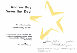 Andrew Day Electric Award Testimonials coupon